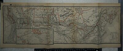 1901 Vintage Colonial Office Map of Part of the Dominion of Canada - Railways