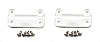 2 Pack Aftermarket Plastic Replacement Hinges for Igloo Cooler includes Screws