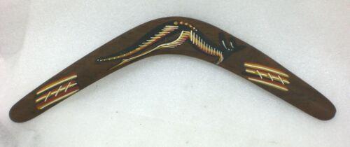 "Australian Boomerang Kangaroo Aboriginal Hand Crafted Art Bunabiri Souvenir 20"""
