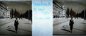 Photographie Autriche Innsbruck 11 septembre 1933 - France - Breizh.antiques.art@gmail.com 06 47 07 70 65 PH23 Dimensions :10,5 cm par 4,5 cm Plaque stéréoscopique . Envoi rapide et soigné . Innsbruck1 (prononcé ins.byk en franais et ns.brk en allemand autrichien) est une ville autrichienne située dan - France