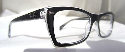 Ray-Ban RB Rx 5255 2034 51mm Schwarz Klar Demo Optisch Augenglas Rezept
