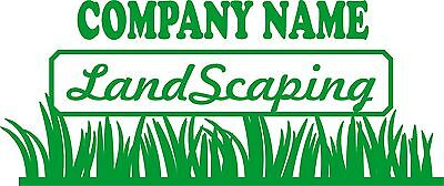 Landscaping Decals, Lawn Care business truck or trailer advertising decals mower