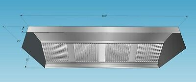 108 X 25 X 18 9 Ft Kitchen Exhaust Hood With Ss Filters