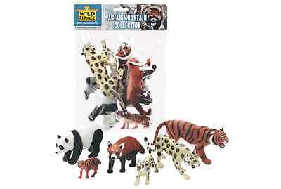 Wild Republic Large Polybag - Asian Mountain Animal Play Set Toy Figurines