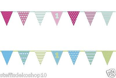 SiDeSo® 1. Geburtstag Banner Girlande Party Deko Geburtstagsfeier Birthday
