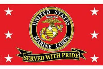 UNITED STATES MARINES SERVED WITH PRIDE 3 X 5 FLAG 3x5 banner FL359 USMC NEW