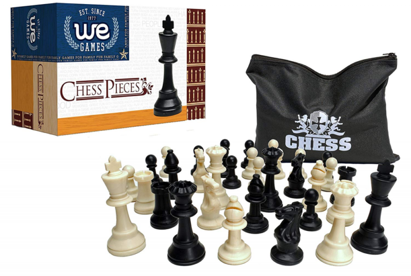 Quadruple Weight Tournament Chess Pieces Heavy Extra Large S