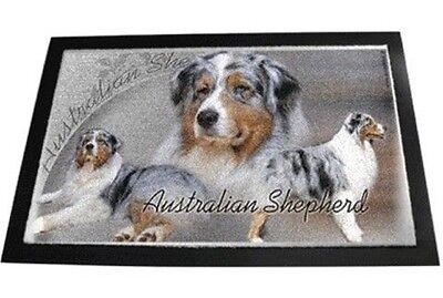 Designer Fusmatte Australian Shepherd 2 Australischer Schäferhund Hundeteppich
