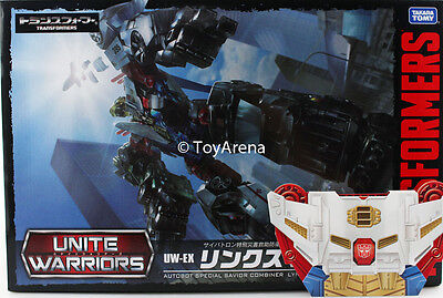 Transformers Unite Warriors UW-EX Lynxmaster Sky Reign Combiner w/ Coin USA