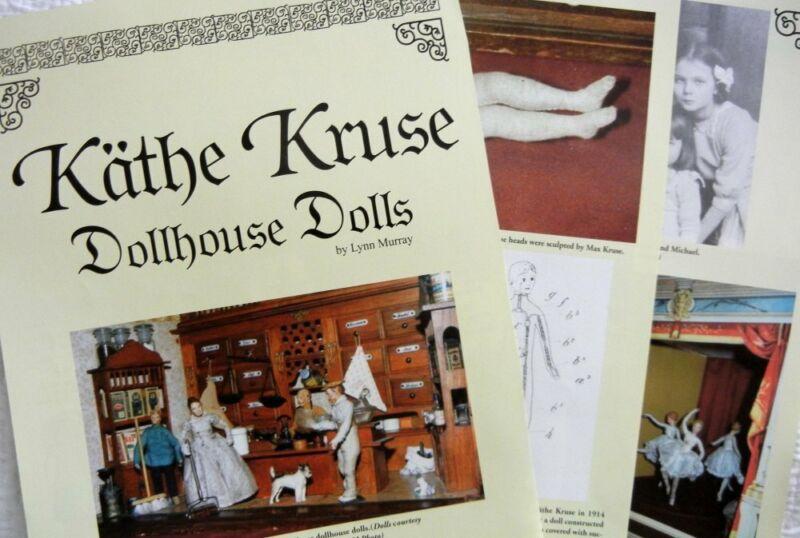 6p History Article + Pics  - Antique Kathe Kruse Dollhouse Dolls
