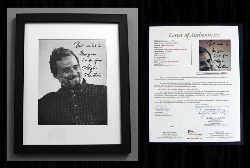 *JSA CERTIFIED* - STEPHEN SONDHEIM SIGNED Autographed & Framed 8x10 Photo!