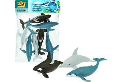 Wild Republic Large Polybag - Whales & Dolphins Animal Play Set toy Figurines