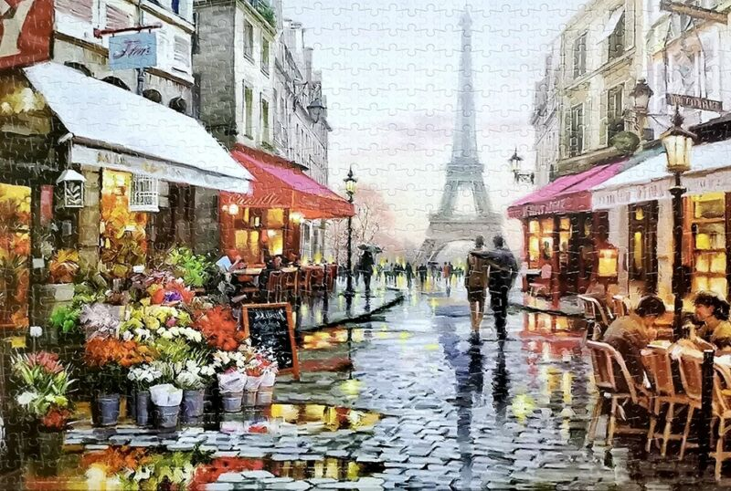 1000 Pieces Jigsaw Puzzles Paris Street Educational Puzzle Toy for Adults Kid