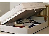 Small Double Sleepmaster Cleo Ottaman Divan Bed VGC rrp £400