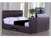 Civic Faux Leather Kingsize TV Bed - 3 Colours