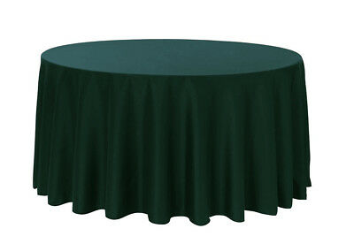 108 inch Round Premium Polyester Tablecloth Hunter Green