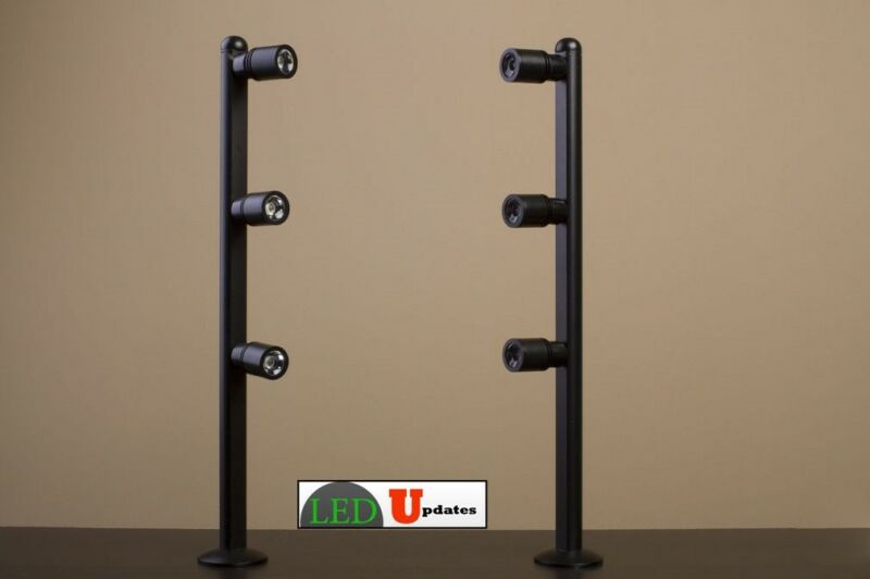 2x Retail display jewelry showcase LED pole light black FY-53 UL power supply