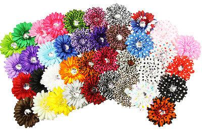 """Wholesale Dozen 4"""" Crystal Gerbera Daisy Flower Heads"""