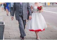 Wedding dress 1950s style tea length (ivory) size 10-12