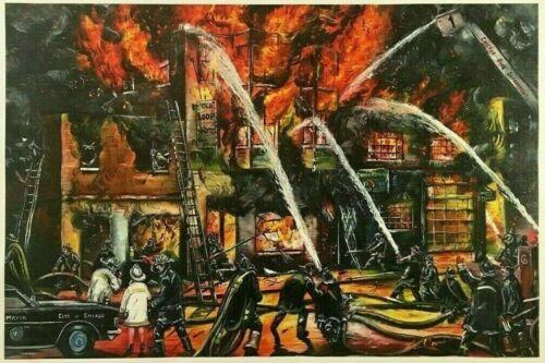 1980 CHICAGO FIRE DEPARTMENT STRIKE LEE KOWALSKI MAYOR JANE BYRNE CANVAS PRINT
