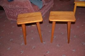 Pair of hand made coffee tables in pine