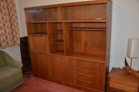 Teak display cabinet. Very good condition.