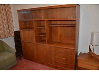 Teak display cabinet. Very good condition.