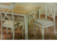 LOVELY TABLE N 6 DINING CHAIRS
