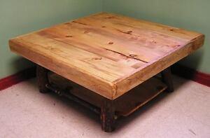 Rustic Pine Coffee Table W Shelf Log Cabin Furniture Ebay