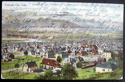 Colorado City CO ~ 1909 Town View  (Colorado Springs ?)