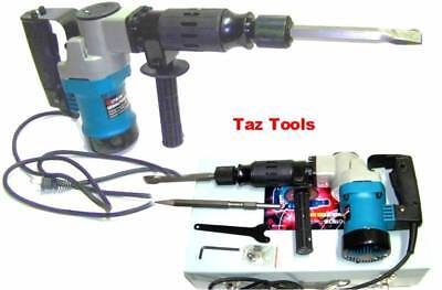 """Electric Demolition Hammer Drill H-D 1-1/2"""" with Punch and Chisel Rotary Drill"""