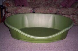 dog bed big green plastic