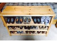 Pine Shoe Storage
