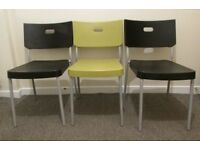 3 stacking chairs dining chairs spare chairs party reception chairs FREE DELIVERY