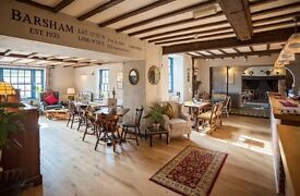 The Barsham Arms is recruiting experienced front of house assistant manager and supervisor