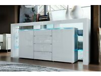White high gloss cabinet draw unit