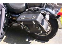 MOTORBIKE Genuine Leather Quick Release Panniers