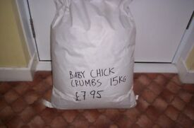 a bag of chick crumbs 15kg