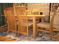 Marks and Spencers 'Lichfield' dining table and chairs