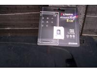 kingston ultimate 8gb micro sc card new