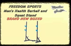 MENS HEALTH Barbell with Fly and Squat Stand Brand New Boxed