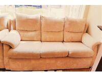 Beige Fabric Sofa Suite 3+2+1