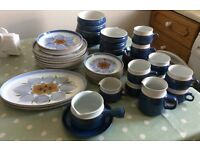Denby dining set crockery