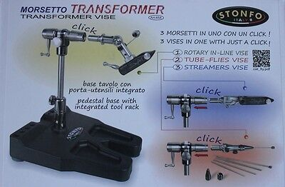 Stonfo Transformer Fly Tying Vice 3 vices in 1 FREE POSTAGE