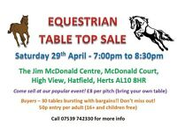 Equine table top sale on Saturday 29th April at 7pm