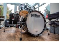 Premier Projector MK1 Professionally Restored 5 Piece Drum Kit Shell Pack in Gloss Black.