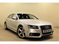 AUDI A5 2.0 SPORTBACK TDI S LINE 5d 168 BHP + ONLY 2 PREVIOUS OWNERS (silver) 2010