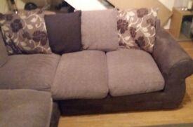 Brown corner sofa ..as new from smoke free home