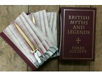 Folio Society Three Book British Myths and Legends Collection 1998
