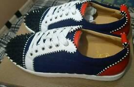 Christian Louboutin Louis Junior Spikes Neoprene 3D Sneakers Size 8 UK